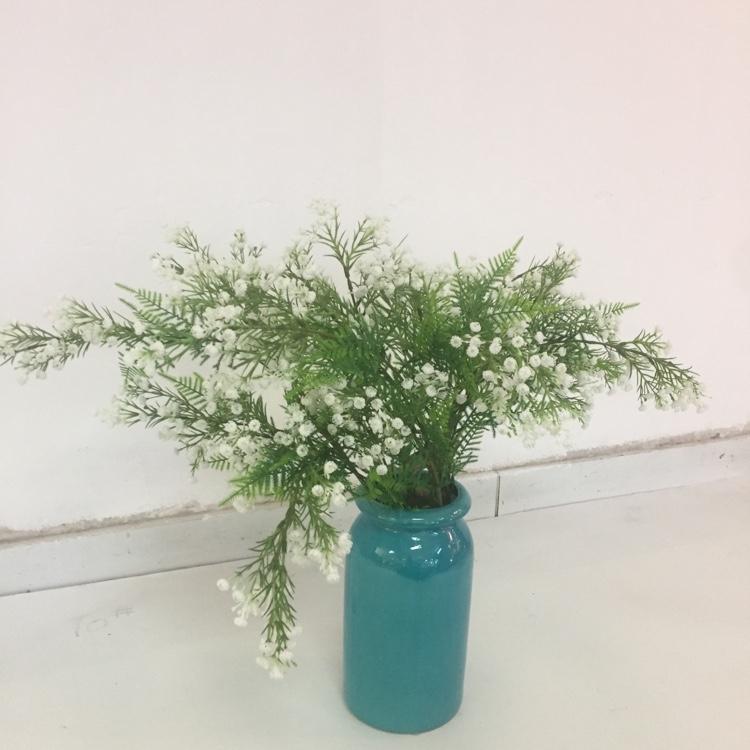 单枝4叉琴心满天星仿真绿植假花假叶家居装饰摆件装饰