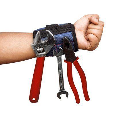 淡化强力磁性手腕带 工具收纳磁性腕包 2块磁铁吸附护腕收纳包