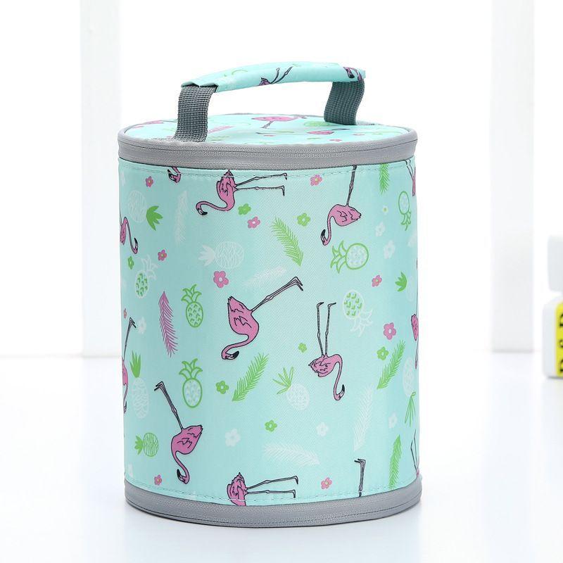 TS 厂家直销户外保温便携手提野餐包卡通小号拉链保温包饭盒袋