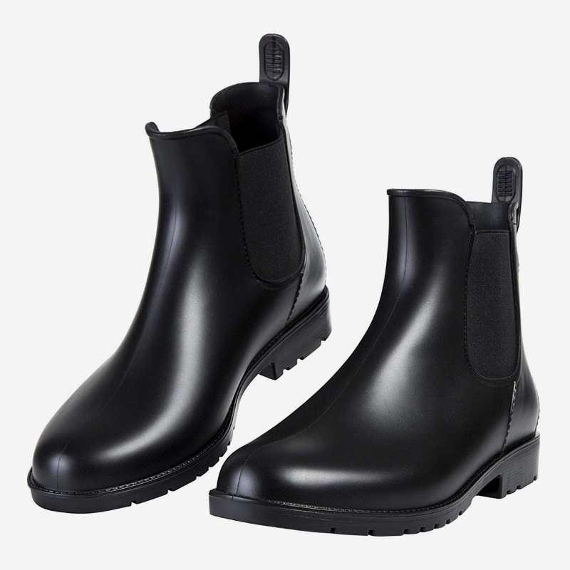春东现货时尚女士休闲短筒雨靴松紧口雨鞋