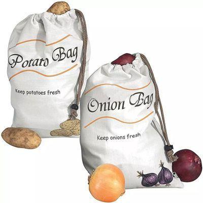 新款蔬菜保鲜储藏袋袋欧美蔬菜保鲜袋土豆洋葱保鲜袋