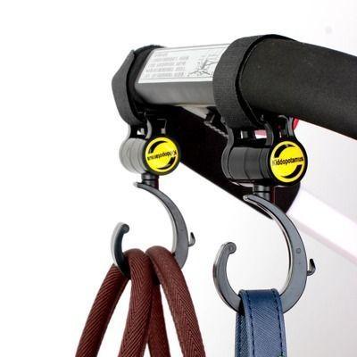婴儿车挂钩 通用婴儿推车挂钩配件 360度旋转伞车用挂包神器