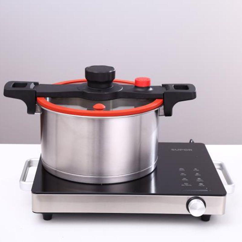 不锈钢高压锅大容量防爆家用燃气电磁炉通用