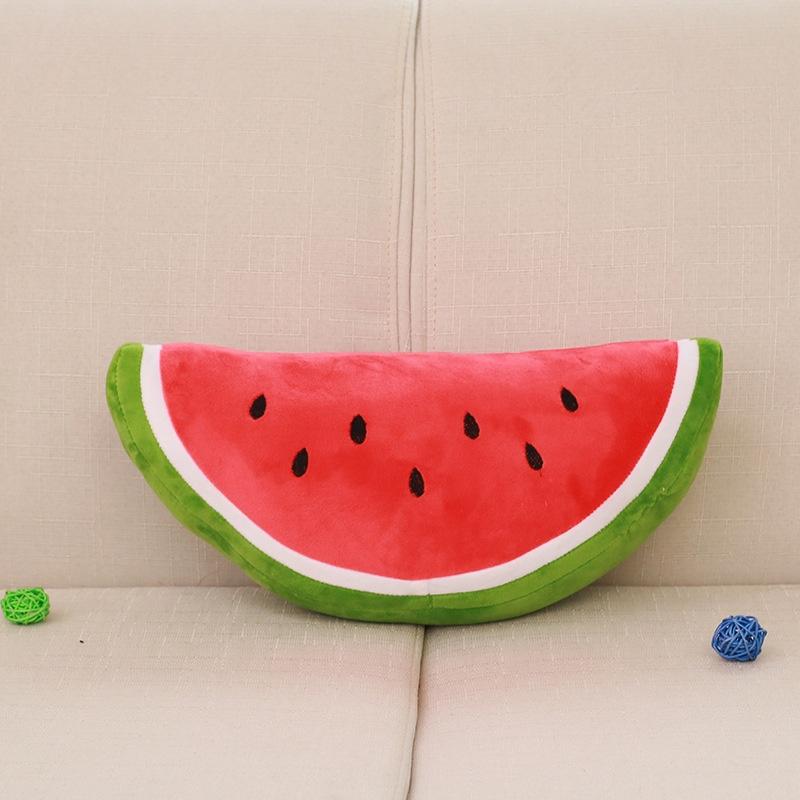西瓜抱枕印花水果枕头