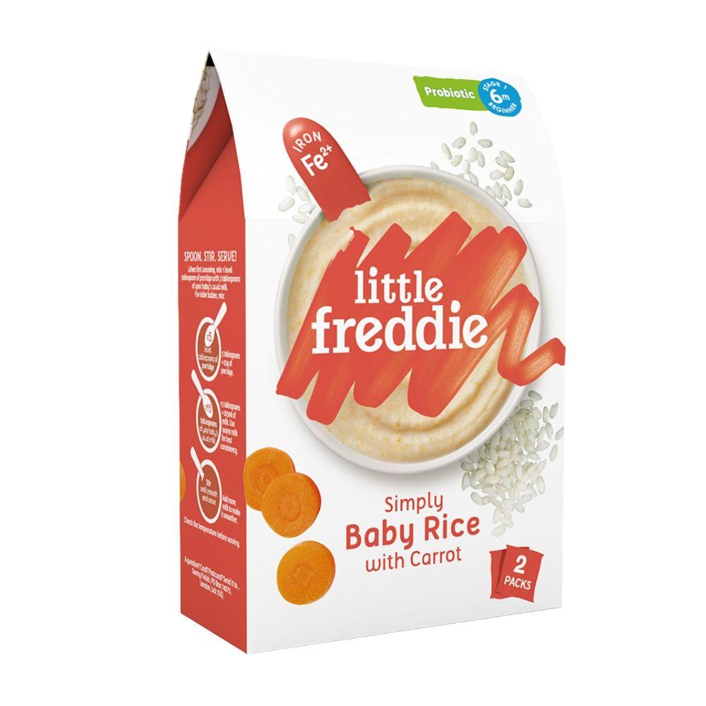 小皮欧洲原装进口婴幼儿米粉胡萝卜大米粉