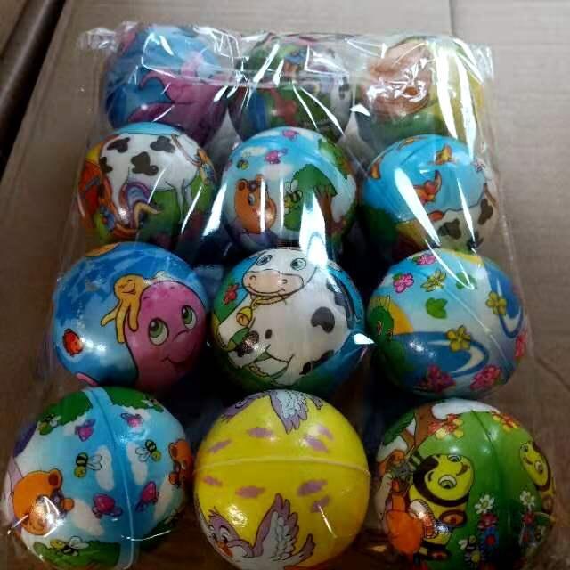 6.3公分海绵球,压力球,解压球,一包12个,一件60包,体积0.16
