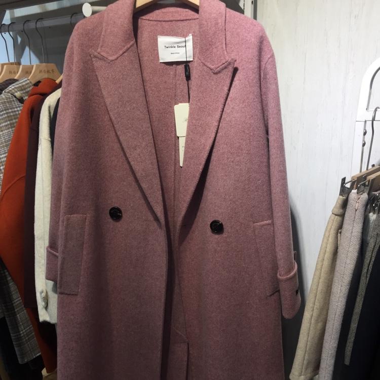 韩版时尚大气羊绒大衣