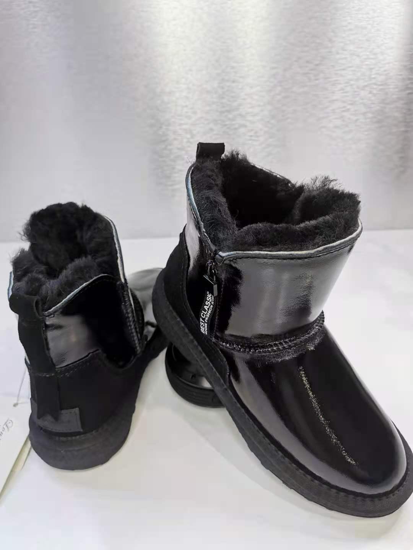 澳洲路易阿玛瑞雪地靴 羊皮拼接款雪地靴 羊绒羊毛雪地靴