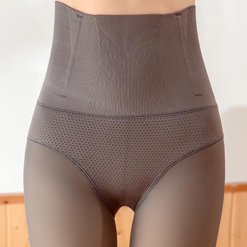 高腰收腹鱼骨360克保暖袜秋冬款透气舒适百搭超弹力高腰设计袜