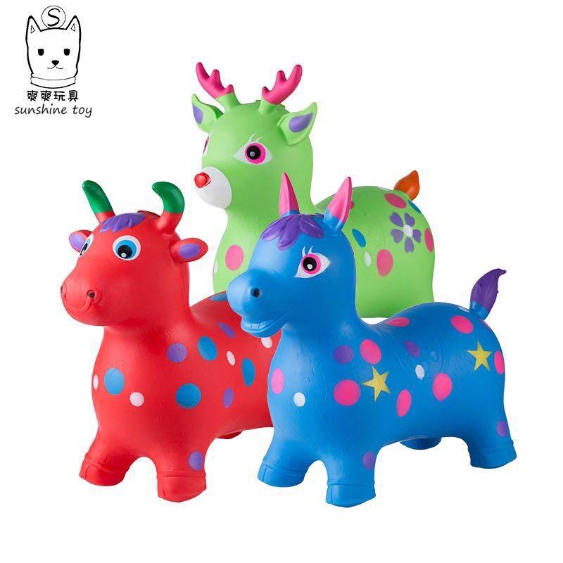 PvC充气动物马牛鹿,单个OPp袋装,一件30个,体积0.12.颜色混装,款式也可以混装