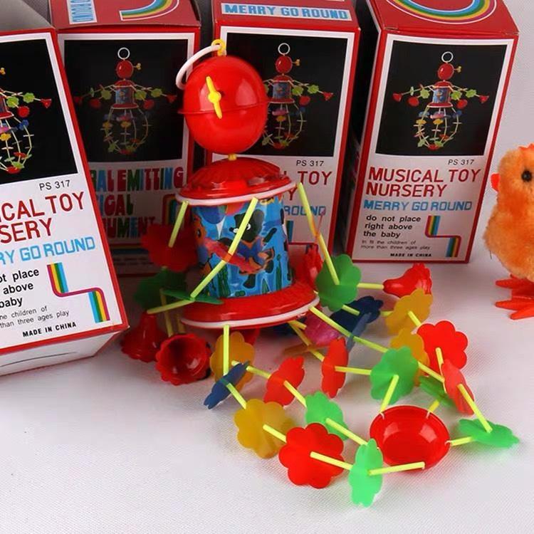 婴儿床吊琴音乐旋转风铃新生儿童宝宝上铉发条吊铃传统益智玩具