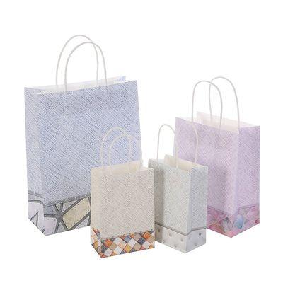 牛皮纸袋环保袋布纹礼品袋购物袋