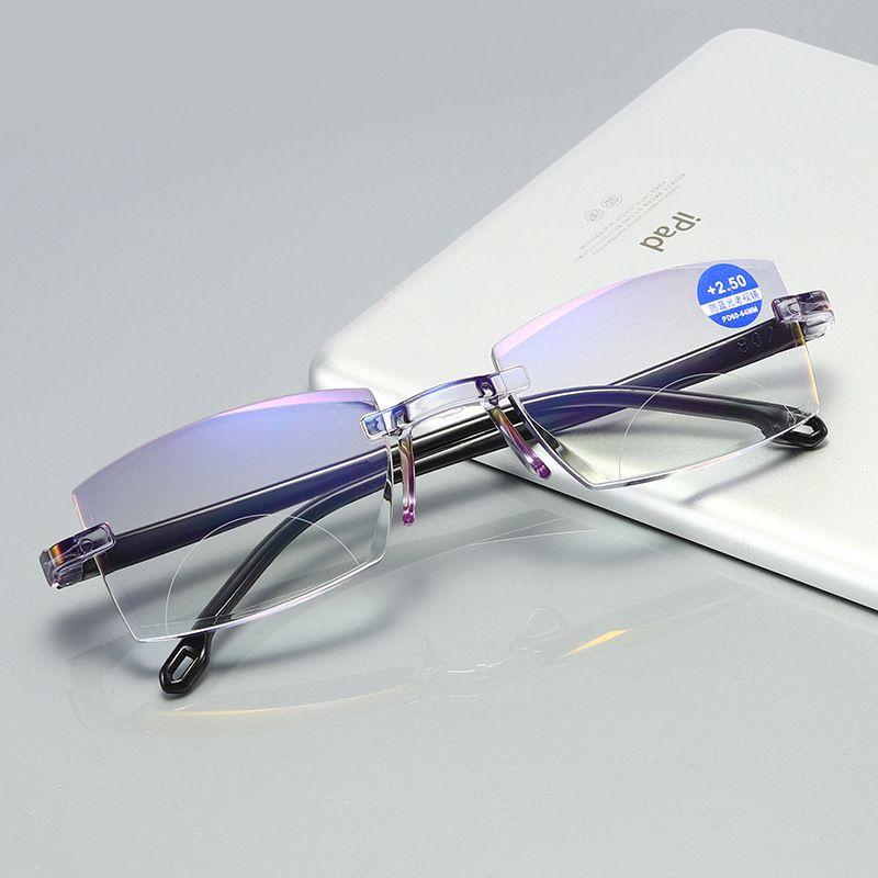 新款防蓝光钻石切边双光老花镜 无框一体高清老花眼镜厂家直销 修改 本产品采购属于商业贸易行为