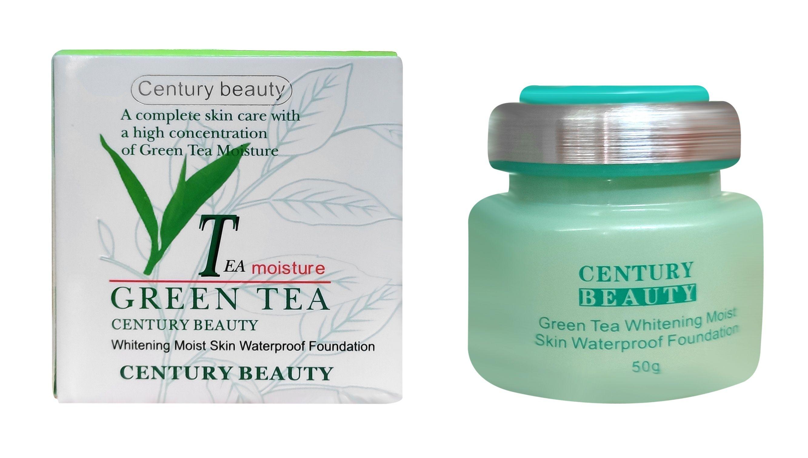 GREEN TEA Whitening Moist Skin Waterproof Foundation 50g