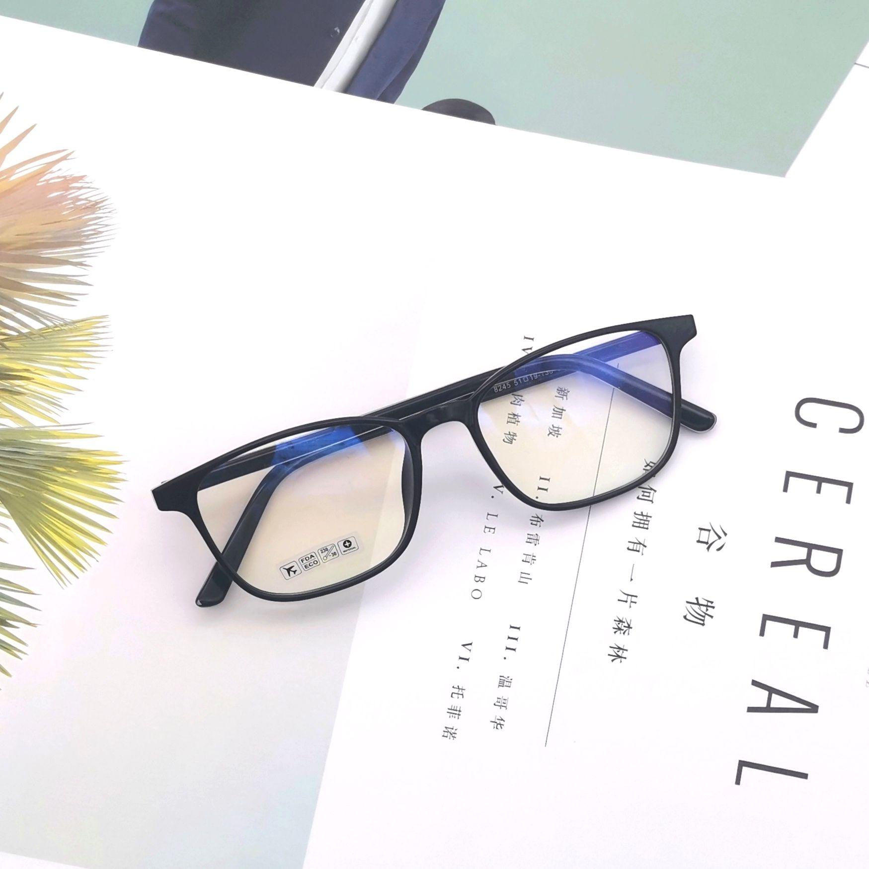 男女同款复古文艺风2020大气文艺方框平光镜可配度数防蓝光学生镜