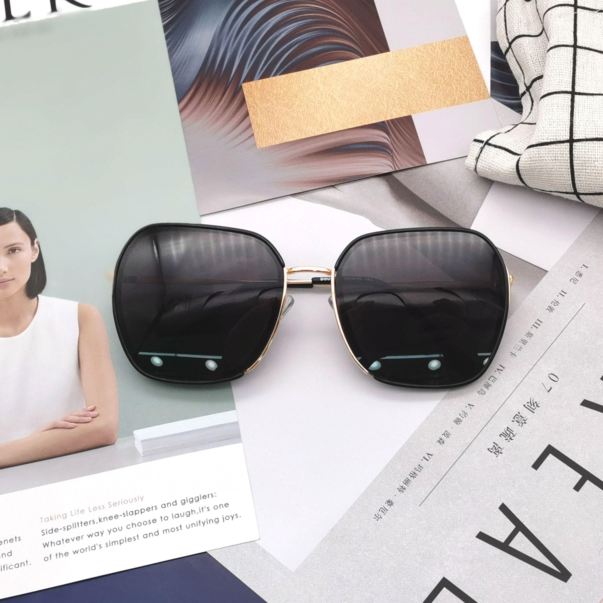 明星同款欧美风潮流时尚文艺方框太阳镜ins风遮阳眼镜男女同款