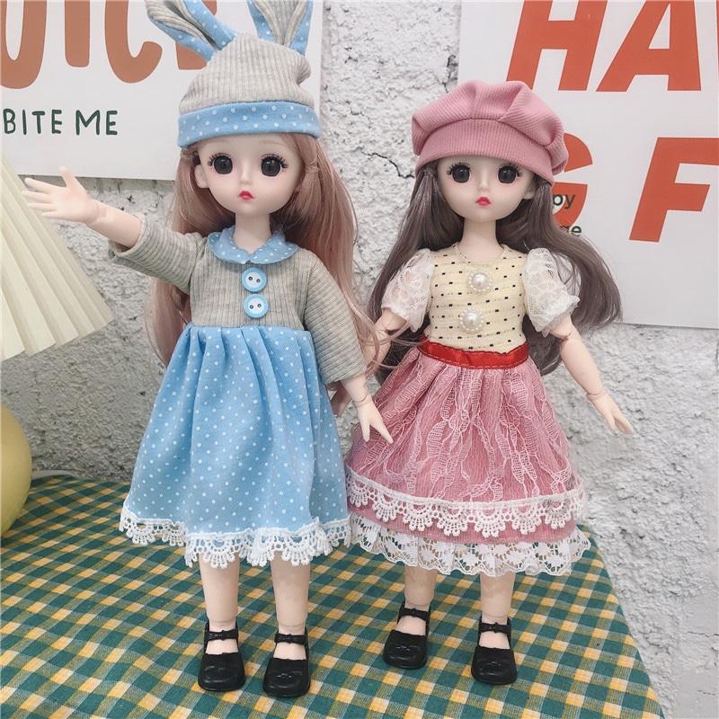 新款30厘米换装娃娃公主23关节3D真眼娃娃女孩玩具生日礼物