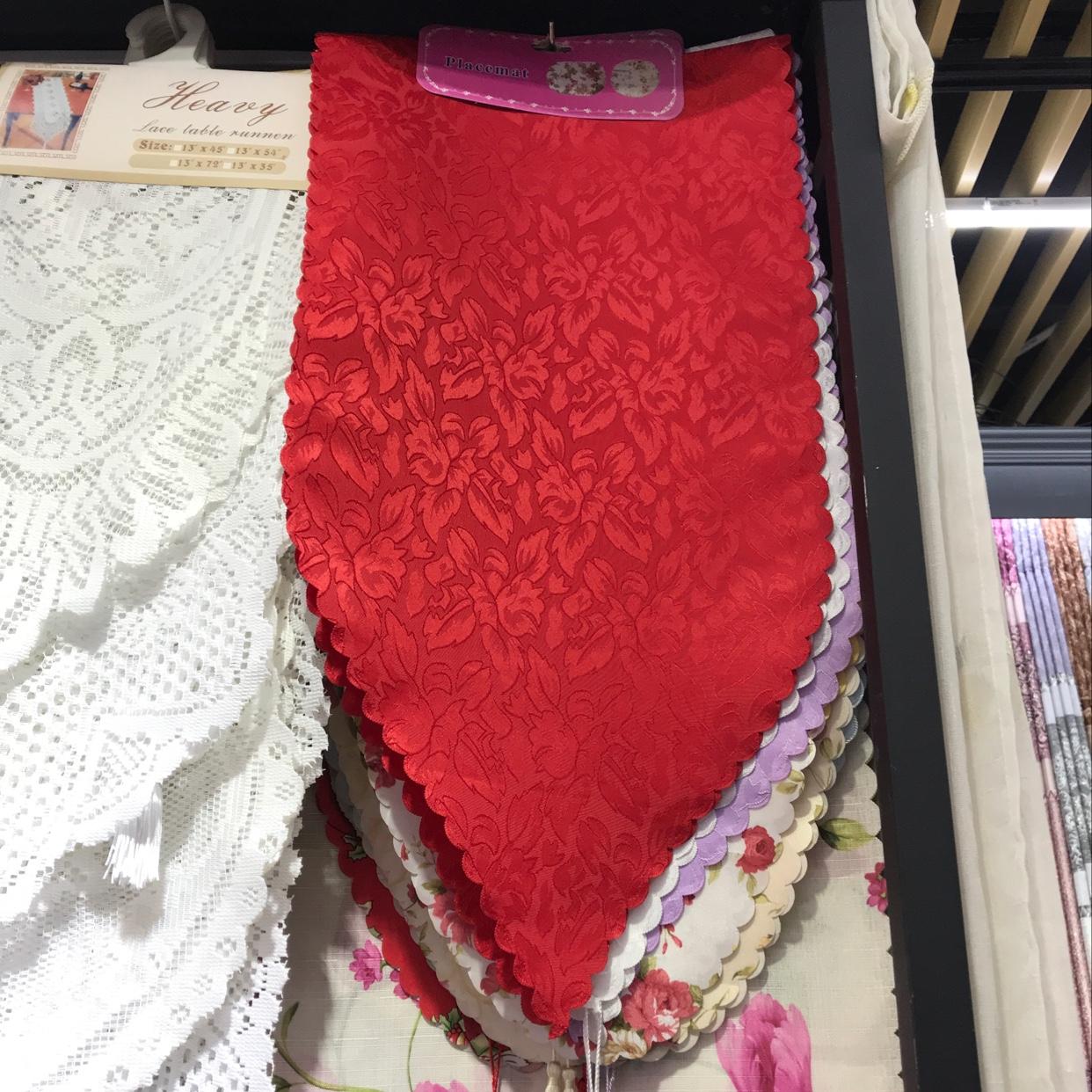 桌旗印花桌旗蕾丝餐桌布床头柜盖布防尘布电视洗衣机罩布冰箱长方形台布茶几巾