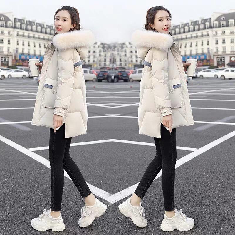 羽绒服女2020年新款白色鸭绒短款小个子大毛领韩版冬季加厚外套潮