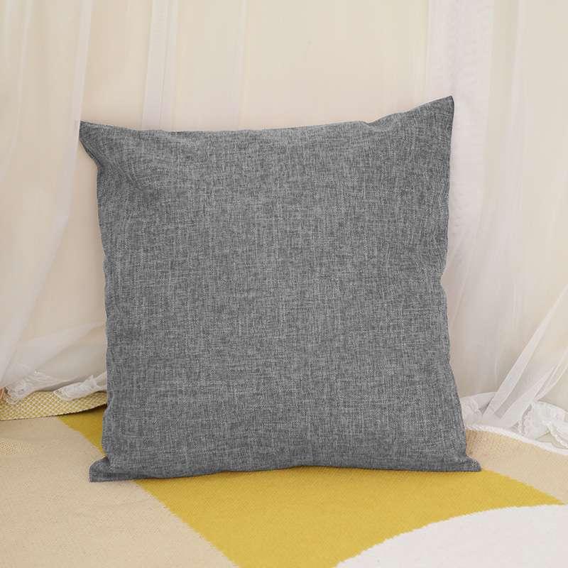 亚麻格子风格抱枕亚马逊爆款抱枕腰枕抱枕套沙发靠垫批发定制