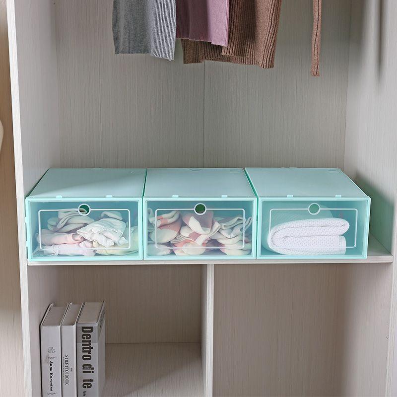 新款日式大号鞋盒 翻盖式鞋子收纳盒 创意家居收纳用品