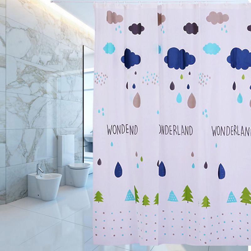 peva浴帘2020新款 环保防水防霉浴室帘跨境洗澡间隔断北欧风挂帘
