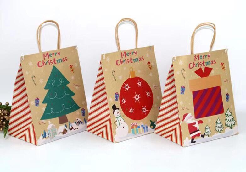 圣诞黄牛皮纸袋