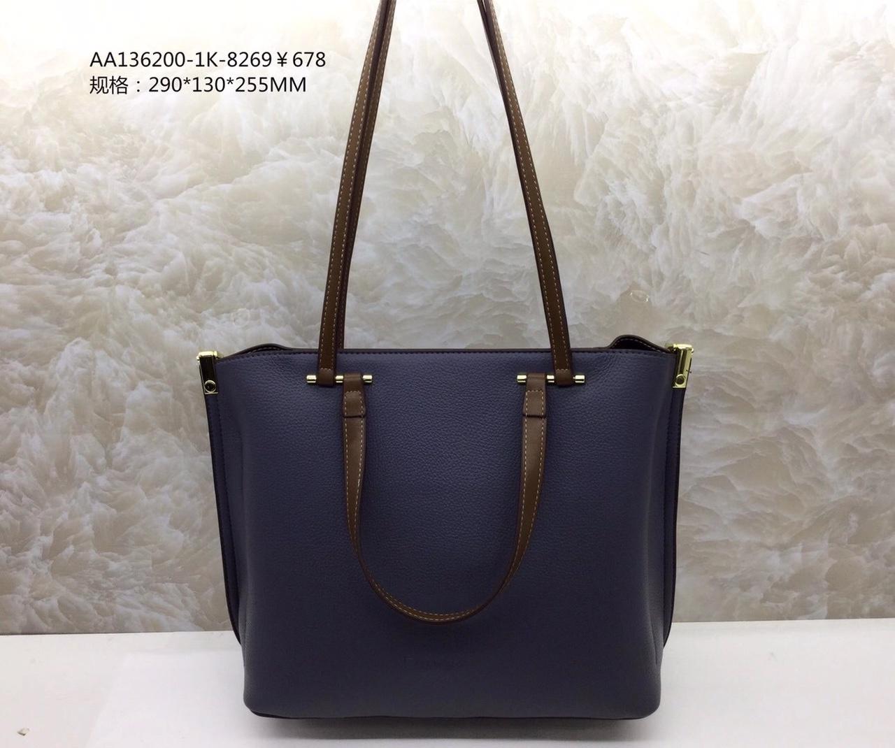 女士手提包可背,实用大气,进口面料,尺寸:290*130*256CM颜色:灰蓝/卡其
