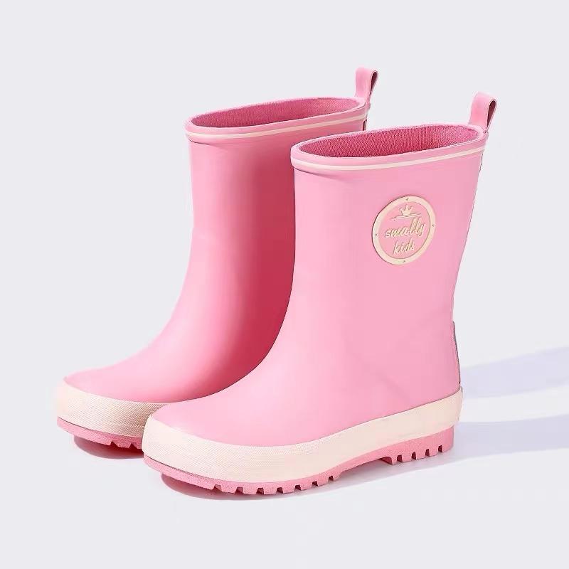 粉色eva大中小女童雨鞋!