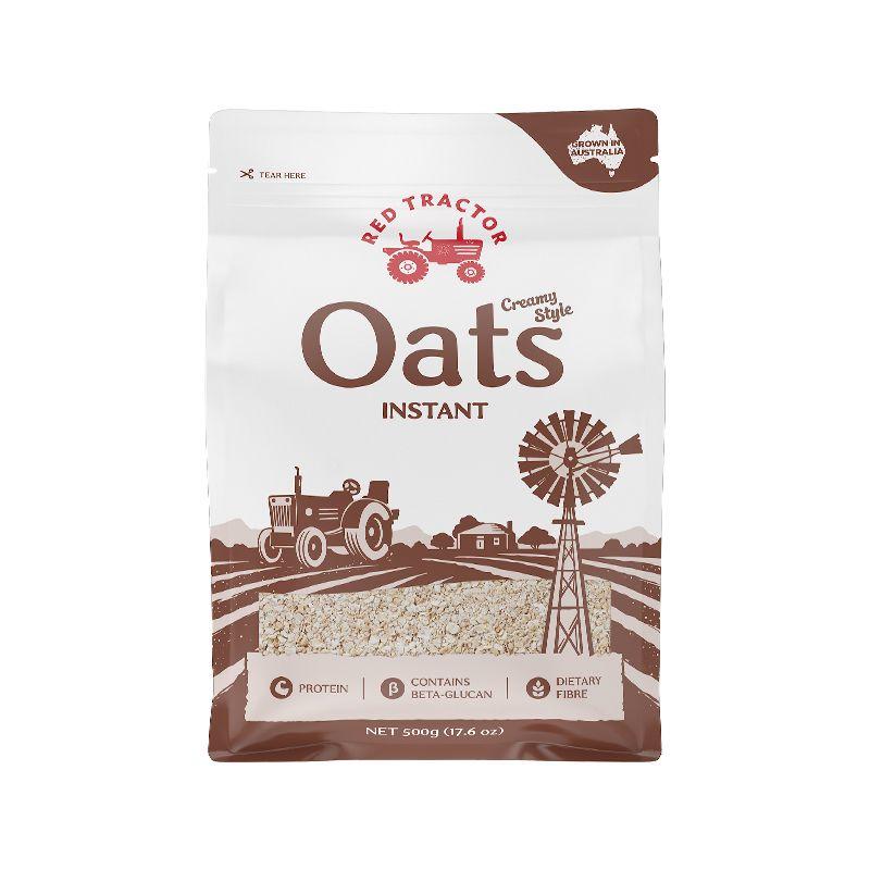 澳大利亚进口OATS红色拖拉机速食燕麦片冲饮即食燕麦早餐袋装500g