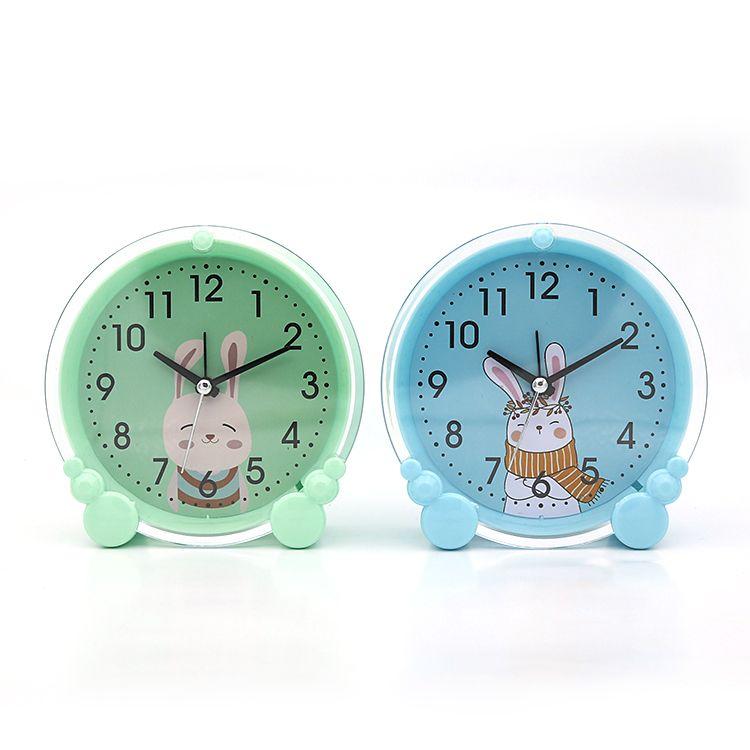 可爱卡通创意时尚圆形闹钟 日用百货 儿童礼品钟表