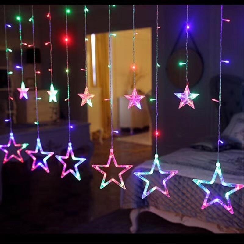 窗帘五角星彩色