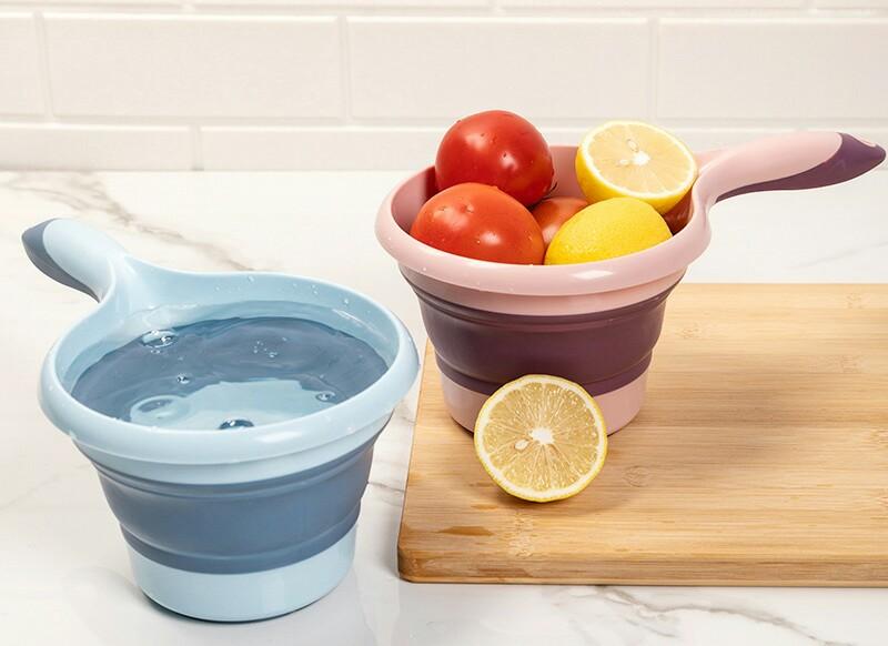 K10-2702折叠水瓢多功能可悬挂塑料水瓢浴室洗头浴勺家居厨房水勺