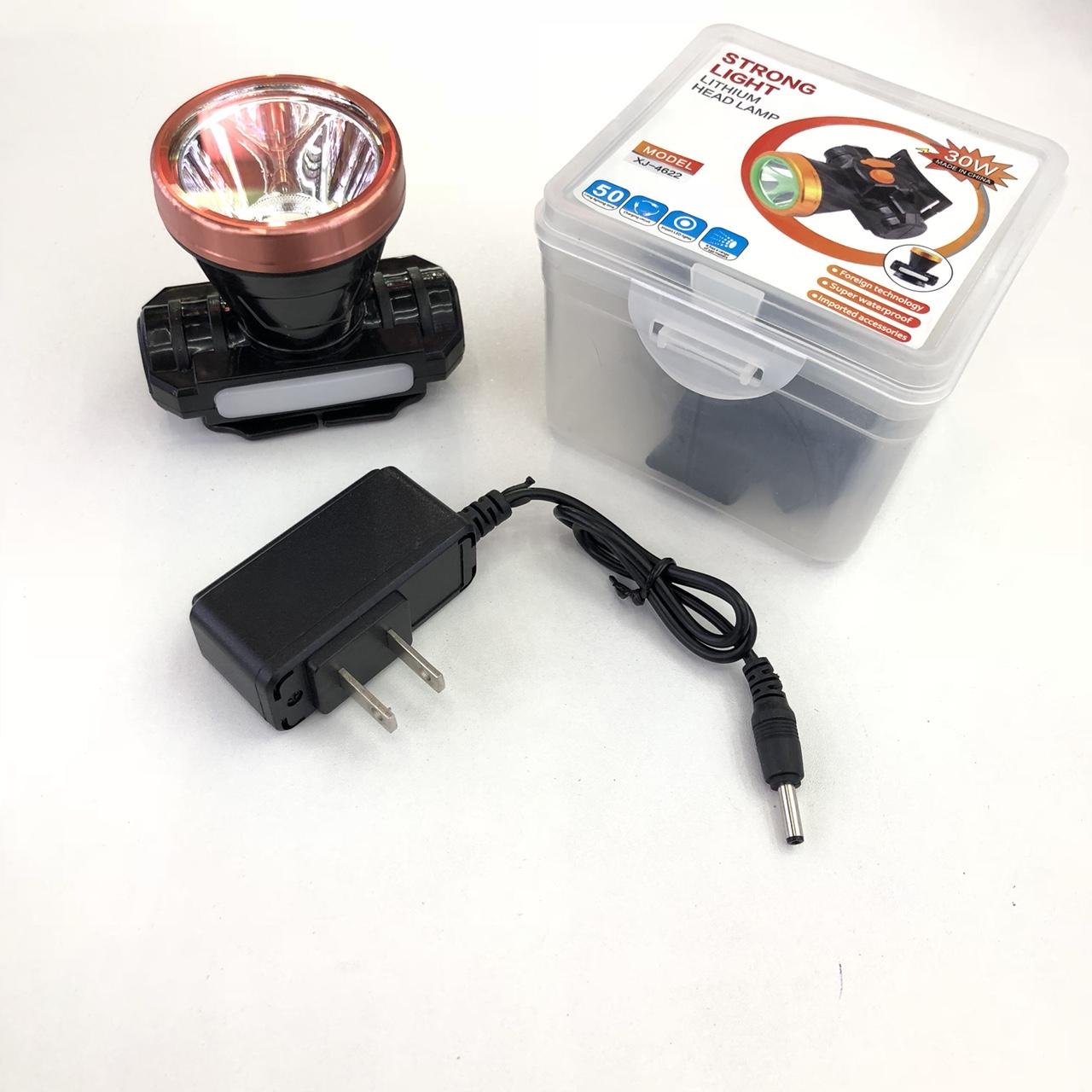4622 户外防水充电头灯大功率锂电池手电筒强光头灯LED头戴式钓鱼头灯
