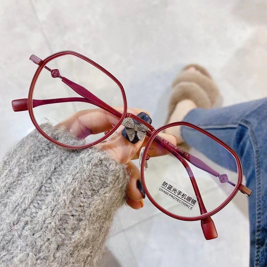 框架眼镜金属不规则男女通用框架眼镜平光镜可配近视