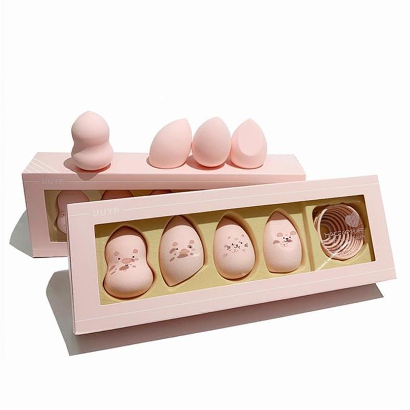 悠悠一品卡通粉扑组合装盒装干湿两用遇水变大美妆蛋葫芦水滴耐用26420