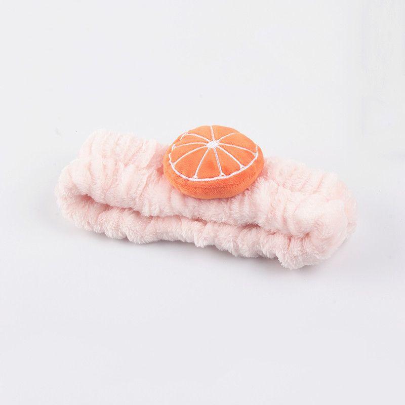 新品网红橘子发带洗脸敷面膜头箍水果造型简约成人束发带头饰品
