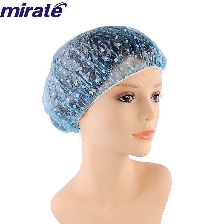 厂家批发 圆点一次性PE浴帽(薄的) 洗漱化妆帽 一次性浴帽