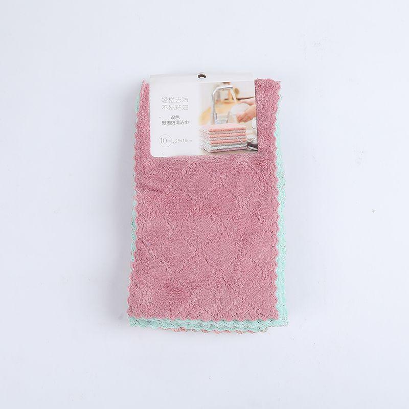 义乌好货 韩景双色珊瑚绒清洁巾/TZ