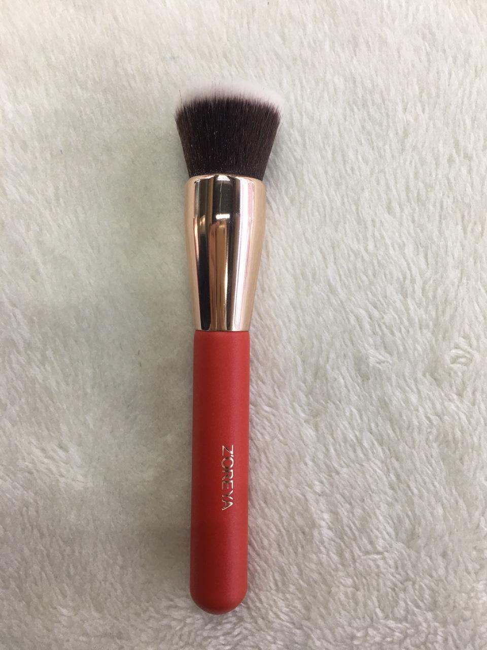 定制款木柄系列化妆单支刷散粉轮廓化妆刷平头粉刷初学化妆者必备单支化妆粉刷
