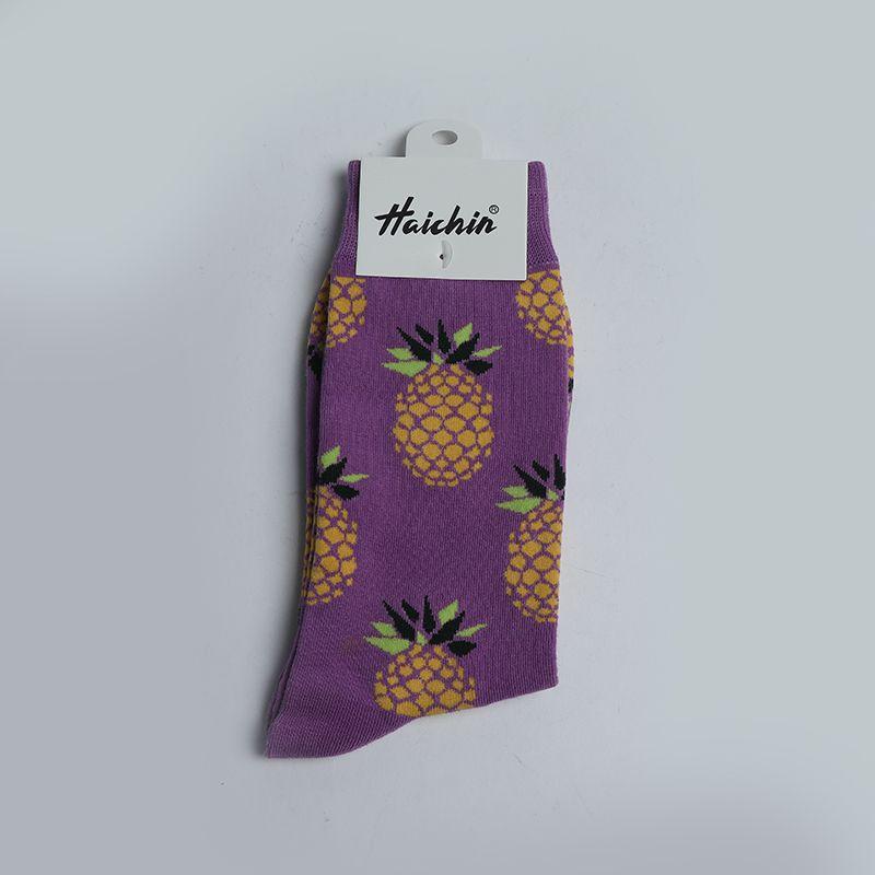义乌好货 菠萝紫袜子#46#/32041