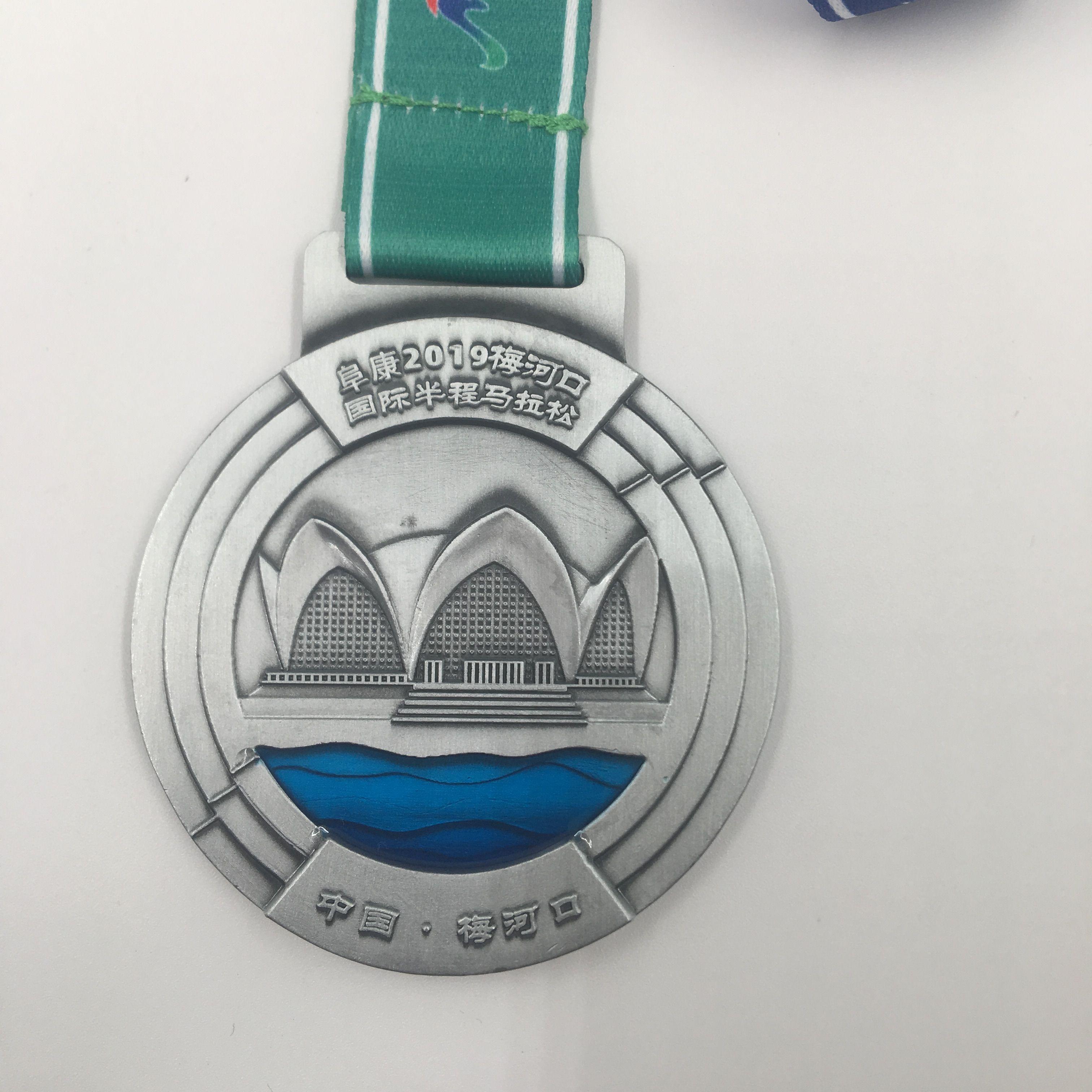 厂家定制金属学生运动会奖励挂牌通用马拉松锌合金纪念比赛奖牌