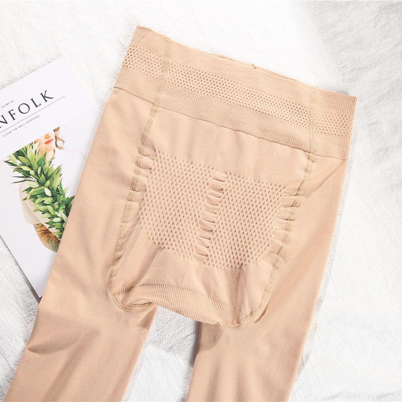 女士春秋款单层无绒按摩打底袜裤光腿纯色锦纶加大裤袜