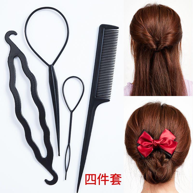 盘发神器扎头发穿发器儿童掏套绑梳编头发百变懒人造型工具拉发针