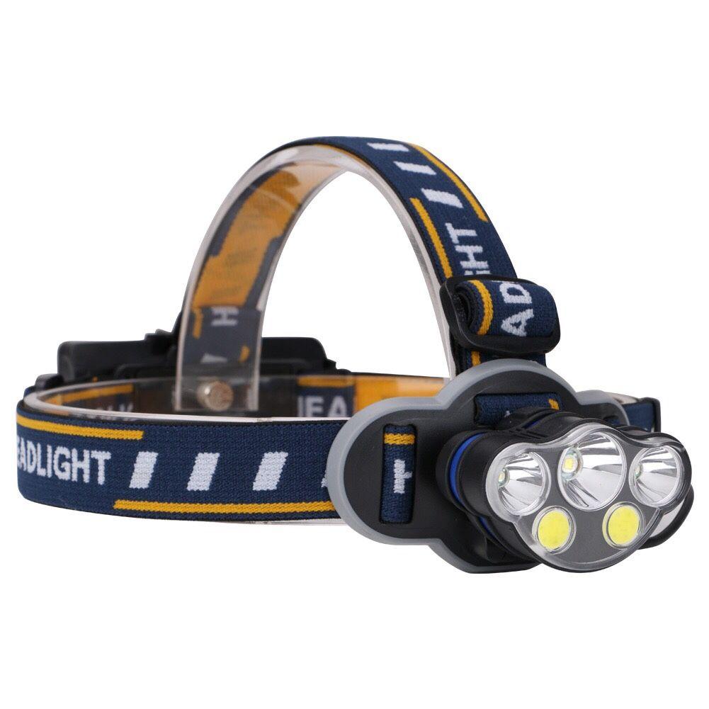 5灯多灯USB充电头灯
