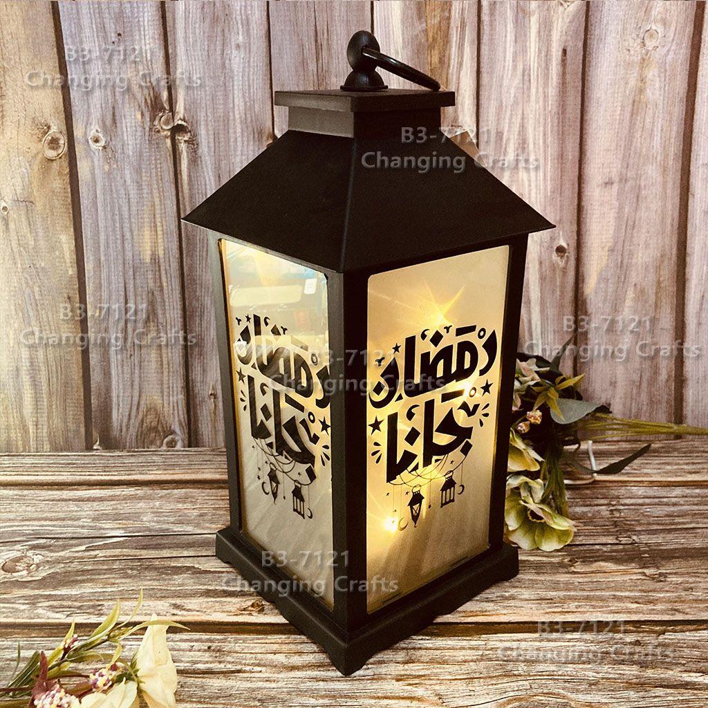 跨境斋月风灯烛台LED电子蜡烛灯串圣诞万圣节派对气氛摆件装饰工艺