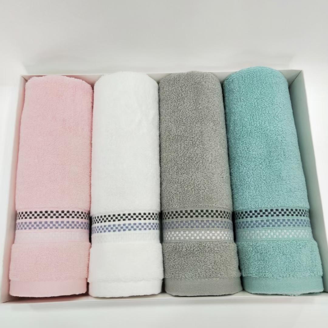 全棉4条毛巾盒装