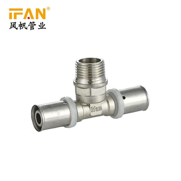 IFAN 卡压管件 Male Tee T18×1/2M