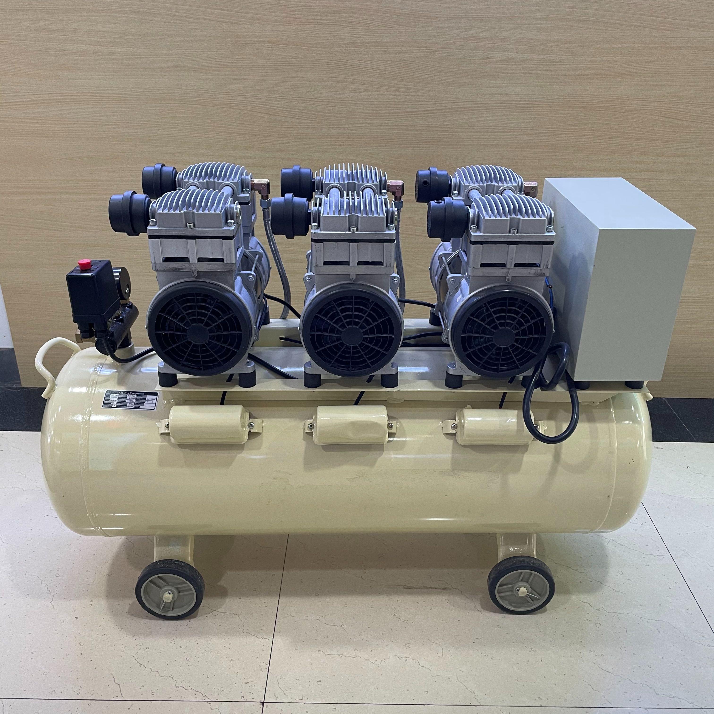辉腾厂家外贸直销 便携空压机/气泵 无油静音空压机大型移动式高压气泵活塞式空气压缩机
