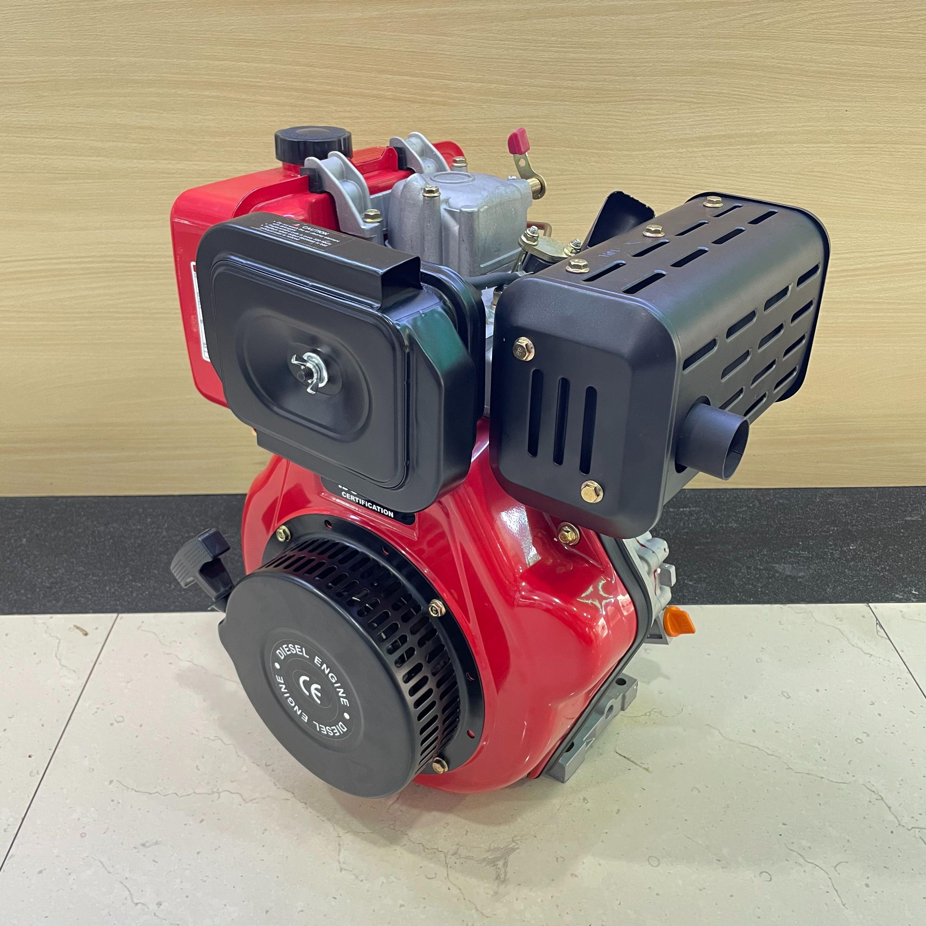 辉腾外贸工厂直销 柴油机 10hp四冲程立式风冷单缸柴油机 186F发动机